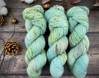 Mocha Worsted Weight | Prickly Pear | Hand Dyed Yarn | Superwash