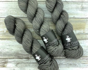 DK Weight | 100% SW Merino Wool | Coffee | Hand Dyed Yarn | Superwash wool