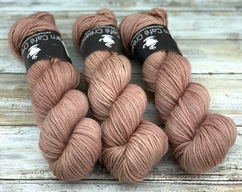 Worsted Weight | Cocoa | Hand Dyed Yarn | Superwash wool
