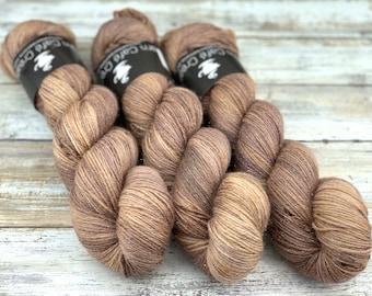 Silver Stellina | Sludge | Hand Dyed Yarn | Superwash wool