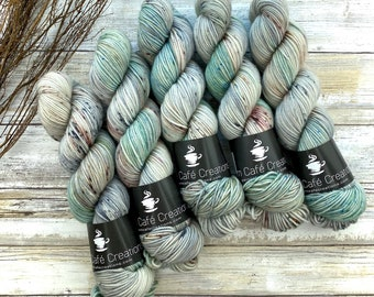 Americano DK Weight | 100% SW Merino Wool | Aloe Vera | Hand Dyed Yarn | Superwash wool
