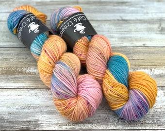 DK Weight Wool/Nylon Blend | My Name is June | Hand Dyed Yarn | Superwash Wool