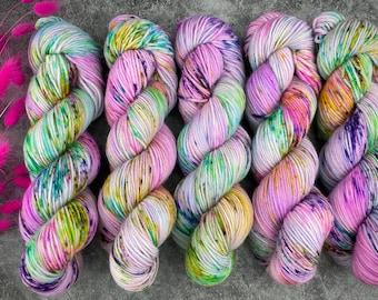 Polwarth DK Weight | 100% SW Polwarth Wool | Angel Cake | Hand Dyed Yarn |