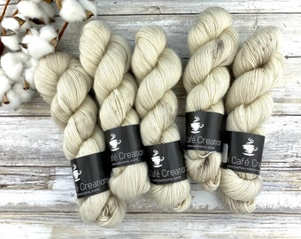 Merino/Mohair Blend SW Fingering Weight | Eggnog | Hand Dyed Yarn | Superwash wool