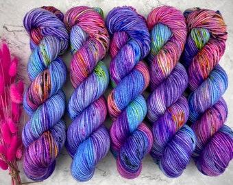 Americano DK Weight   100% SW Merino Wool   Wonderbolts   Hand Dyed Yarn   Superwash wool