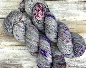 Hand-Dyed Yarn | Merino Wool | Going Gray Collection | Grape