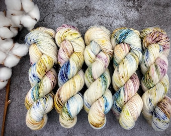 Glacé Silver Stellina | Orchard | Hand Dyed Yarn | Superwash wool | 4-ply