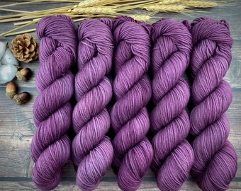 Americano DK Weight | 100% SW Merino Wool | Fig | Hand Dyed Yarn | Superwash wool