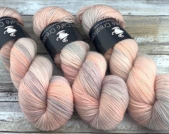 Americano DK Weight | 100% SW Merino Wool | Peaches and Cream | Hand Dyed Yarn | Superwash wool