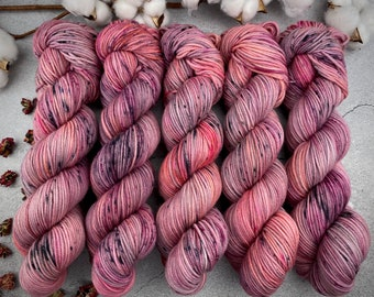 Worsted Weight | Pomegranate | Hand Dyed Yarn | Superwash wool