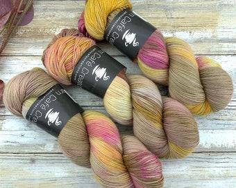 Fingering Weight | Peony | Hand Dyed Yarn | Non-Superwash Merino