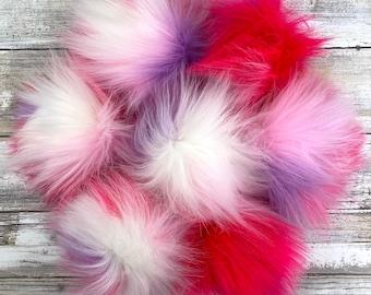 Gumball | Pom Pom | Snap on Pom Pom | Faux Fur Pompom