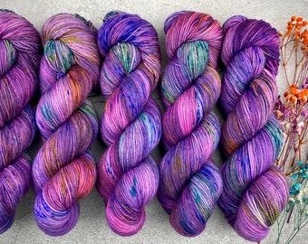 Biscotti DK Weight | 85% SW Merino Wool/15 Nylon | Pinkie Sense | Pinkie Pie Collection | Hand Dyed Yarn | Superwash