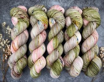 100% Merino SW Fingering Weight   Guava   Hand Dyed Yarn   Superwash wool