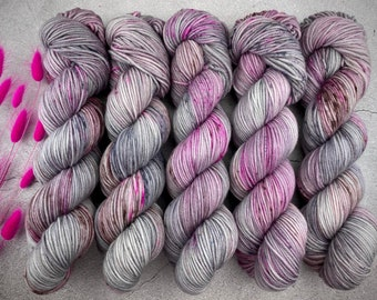 Worsted Weight | Dragon Fruit Mojito | Hand Dyed Yarn | Superwash wool