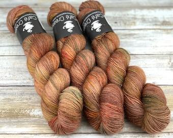 Gold Stellina | Sassafras | Hand Dyed Yarn | Superwash wool