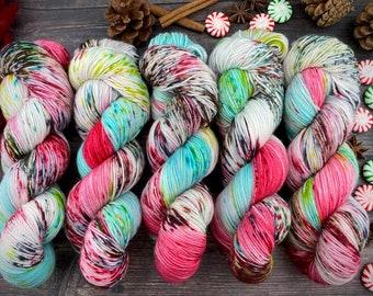 Americano DK Weight | 100% SW Merino Wool | Gumdrop Nougat | Hand Dyed Yarn | Superwash wool
