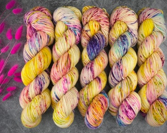 Americano DK Weight | 100% SW Merino Wool | Lemon Meringue | Hand Dyed Yarn | Superwash wool