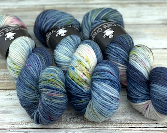 Worsted Weight | Rainbow Storm | Hand Dyed Yarn | Superwash wool