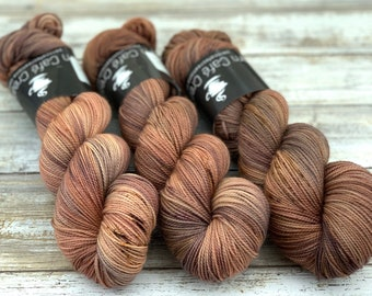 2-ply Fingering Weight   Plateau   Hand Dyed Yarn   Superwash Merino Wool