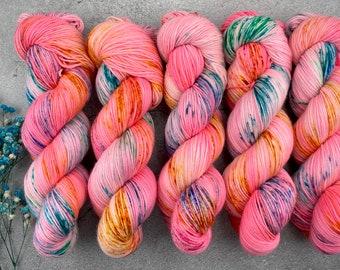 Americano DK Weight | 100% SW Merino Wool | Pinkamena Diane | Pinkie Pie Collection | Hand Dyed Yarn | Superwash wool