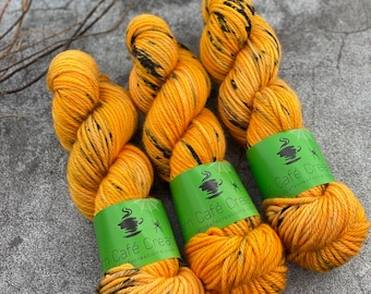 Bulky Weight  | 2020 Halloween Horror Collection | Pumpkinhead  | Hand Dyed Yarn | Superwash Merino Wool