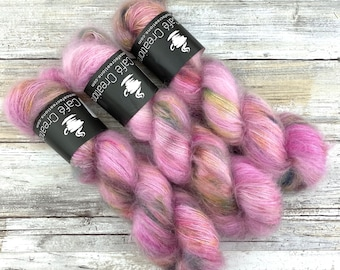 Faery Dust | Mohair Lace | Hand Dyed Yarn