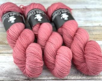 DK Weight Wool/Nylon Blend | Blush | Hand Dyed Yarn | Superwash Wool