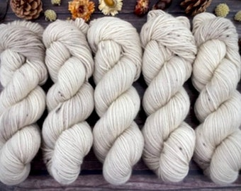 100% Merino SW Fingering Weight | Eggnog | Hand Dyed Yarn | Superwash wool