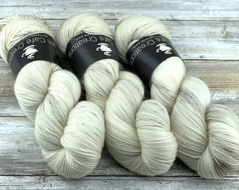 85/15 SW Merino/Wool Sock Weight| Eggnog | Hand Dyed Yarn | Superwash wool
