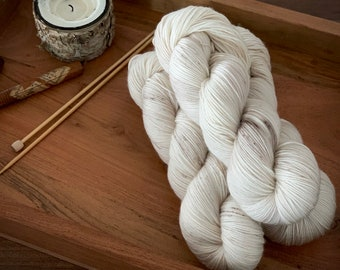 Eggnog | Superwash Merino Wool | Hand Dyed Yarn