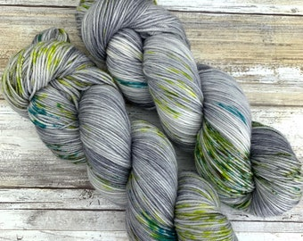 Hand-Dyed Yarn | Merino Wool | Going Gray Collection | Lime