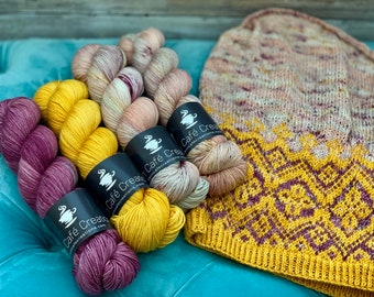 Hand-Dyed Yarn | Merino Wool | Navelli Kit Mawas