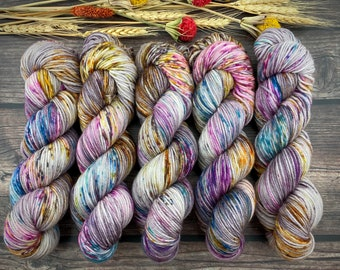 Worsted Weight | Boozy Hot Wassail | Hand Dyed Yarn | Superwash wool