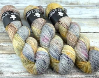 Silver Stellina | Dusk | Hand Dyed Yarn | Superwash wool