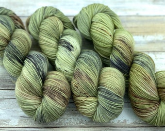 100% Merino SW Fingering Weight | Underbrush | Hand Dyed Yarn | Superwash wool
