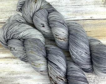 Hand-Dyed Yarn | Merino Wool | Going Gray Collection | Chocolate Chip