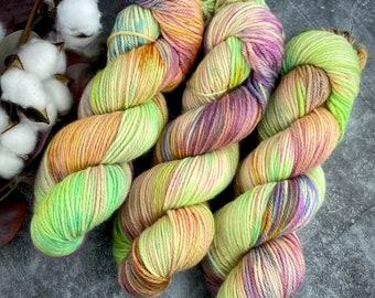 DK Weight | Lime Chiffon | Non-Superwash Merino Wool | Hand-Dyed Yarn