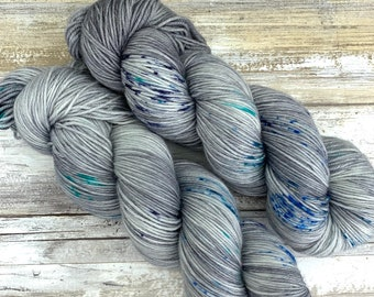 Hand-Dyed Yarn | Merino Wool | Going Gray Collection | Peppermint