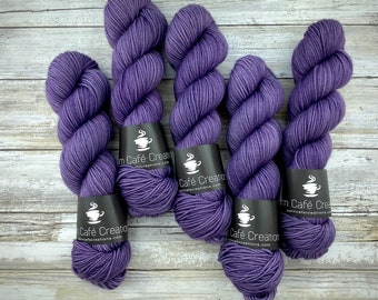 Americano DK Weight | 100% SW Merino Wool | Sugarplum | Hand Dyed Yarn | Superwash wool