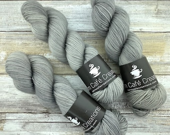 85/15 SW Merino/Wool Sock Weight| Oatmeal | Hand Dyed Yarn | Superwash wool