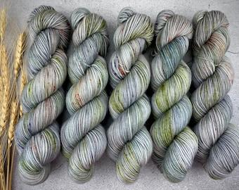 Biscotti Sock | 85/15 SW Merino/Wool Sock Weight| Spring Moss | Hand Dyed Yarn | Superwash wool