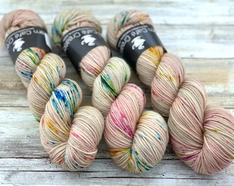 DK Weight | 100% SW Merino Wool | Peach Blossom | Hand Dyed Yarn | Superwash wool