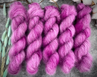 Mohair/Silk Lace   Mischief   Hand Dyed Yarn
