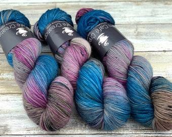 Worsted Weight   Nessie   Hand Dyed Yarn   Superwash wool