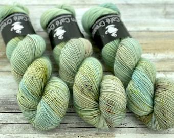 Polwarth Fingering Weight | Prickly Pear | Hand Dyed Yarn | Superwash Polwarth