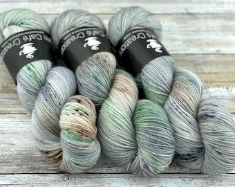 85/15 SW Merino/Wool Sock Weight| Aloe Vera | Hand Dyed Yarn | Superwash wool