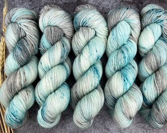100% Merino SW Fingering Weight | Tipsy Shark | Hand Dyed Yarn | Superwash wool