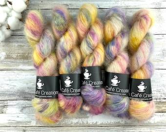 Lemon Meringue   Mohair Silk   Hand Dyed Yarn