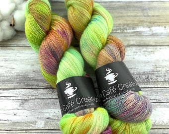 Lace Weight | Lime Chiffon | Non-Superwash | Hand Dyed Yarn